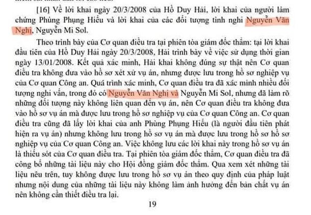 """Vụ án Hồ Duy Hải: Vì sao 12 năm gọi tên """"Nguyễn Văn Nghị"""", bây giờ lại là """"Nguyễn Hữu Nghị""""? - Ảnh 3."""