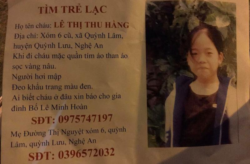 Nữ sinh 15 tuổi đi lạc được cưu mang ở Hà Nội - Ảnh 1.
