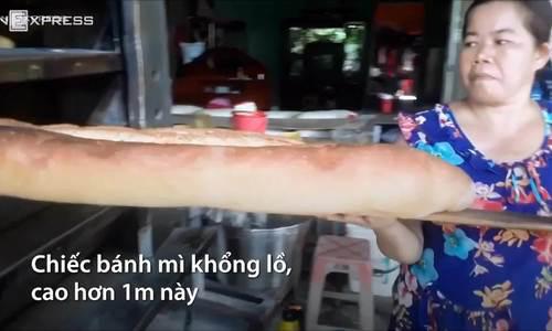 Bánh mì khổng lồ ở An Giang - Ảnh 4.