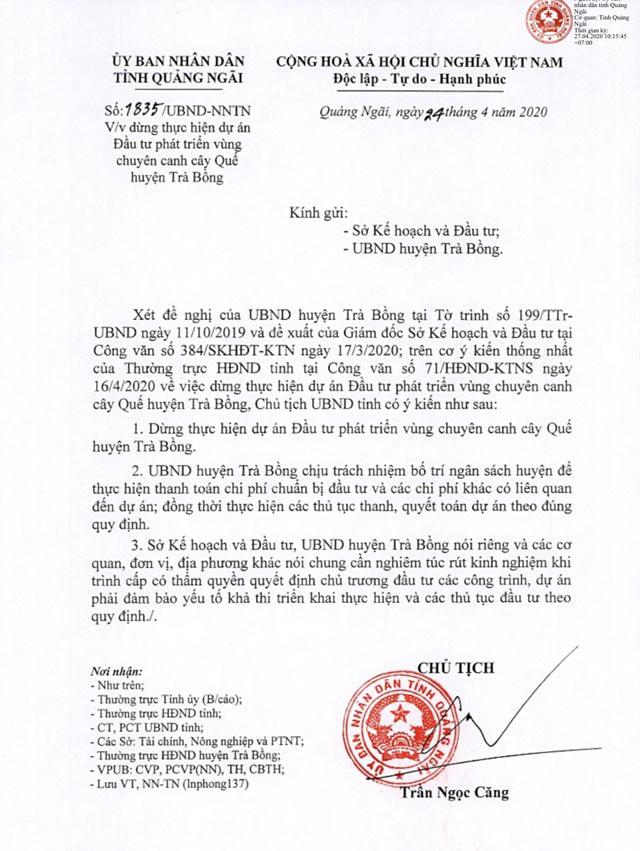 Quảng Ngãi: Ngỡ ngàng đề án vùng chuyên canh quế mới khai sinh đã xin khai tử  - Ảnh 4.