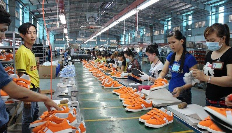 Công nhân nhà máy Taekwang Vina tại khu công nghiệp Biên Hòa 2 (Đồng Nai)