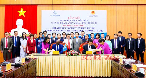 Ký kết khung hợp tác chiến lược giữa tỉnh Hà Giang với Ngân hàng thế giới - Ảnh 7.