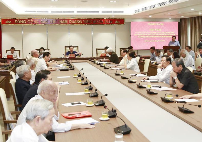Nguyên lãnh đạo 96 tuổi góp ý kiến xây dựng ĐH Đảng bộ Hà Nội khóa mới - Ảnh 4.