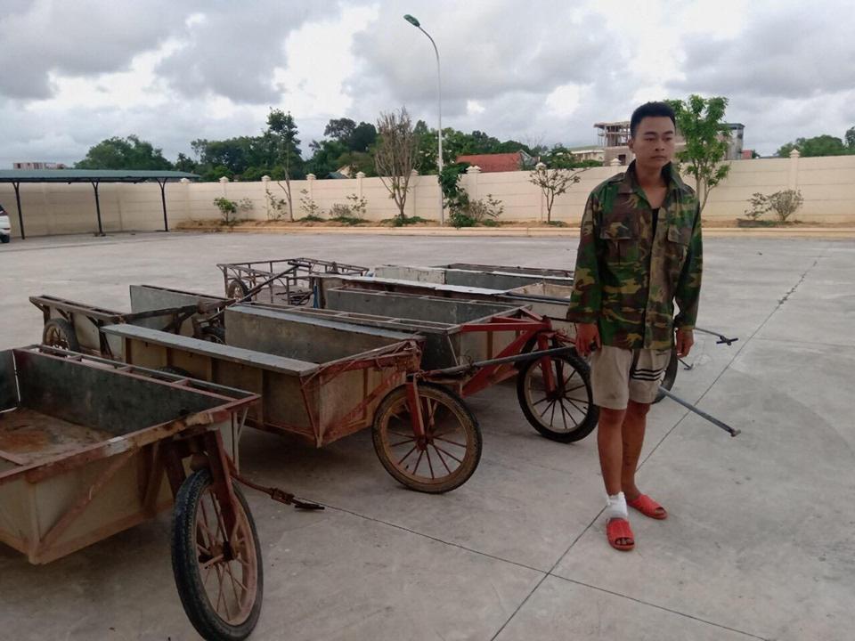 Quảng Ninh: Bắt giữ đối tượng nhiều lần trộm cắp xe kéo làm đồng - Ảnh 1.