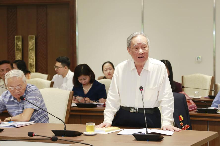 Nguyên lãnh đạo 96 tuổi góp ý kiến xây dựng ĐH Đảng bộ Hà Nội khóa mới - Ảnh 2.