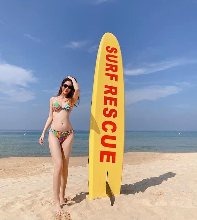 Diễm My 9X diện bikini quyến rũ hút mắt, dẫn đầu hội mỹ nhân tạo dáng ở biển - Ảnh 6.