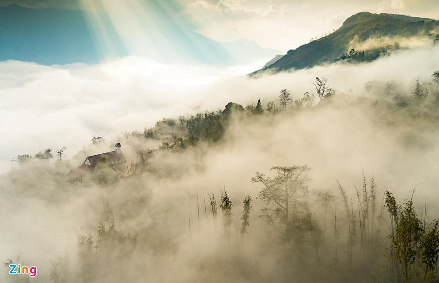 Sa Pa huyền ảo dưới làn mây trắng - Ảnh 5.