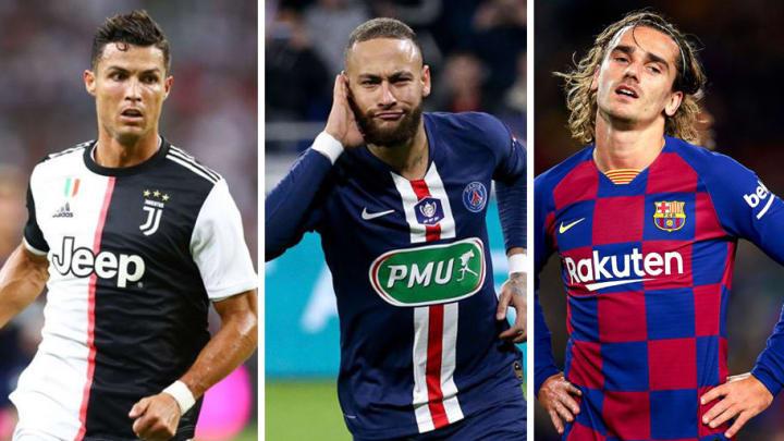 10 cầu thủ có tổng phí chuyển nhượng cao nhất thế giới: Ronaldo số 2, ai số 1? - Ảnh 1.