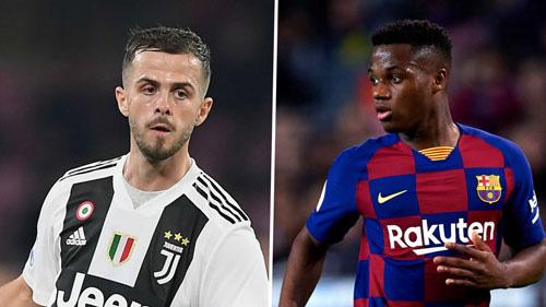 Juventus chỉ nhả nếu có Fati (phải).