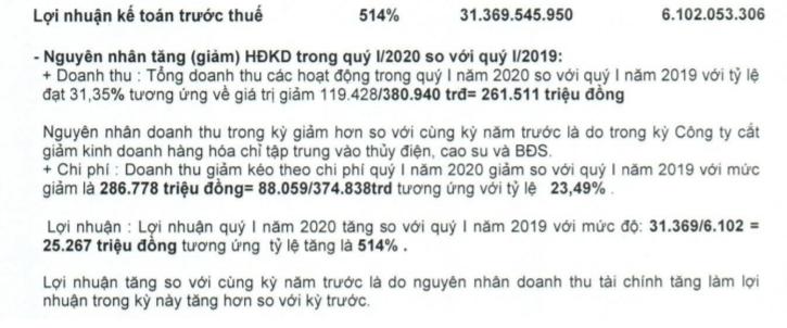 """""""Hụt thu"""", Công ty của nhà Cường Đô la vẫn         tăng trưởng lợi nhuận 514%, vì sao? - Ảnh 1."""