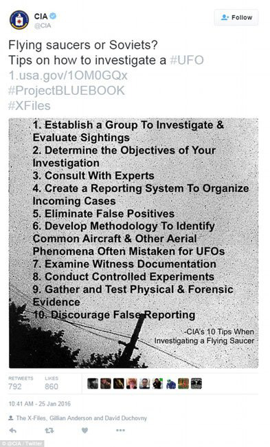 CIA công bố hàng nghìn tài liệu về UFO - Ảnh 4.