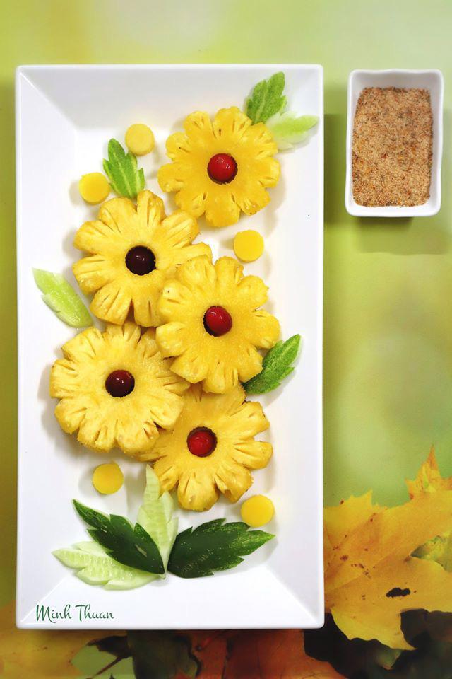 """Mê tít những đĩa hoa quả """"hoa lá cành"""" của nữ giảng viên Đại học - Ảnh 10."""