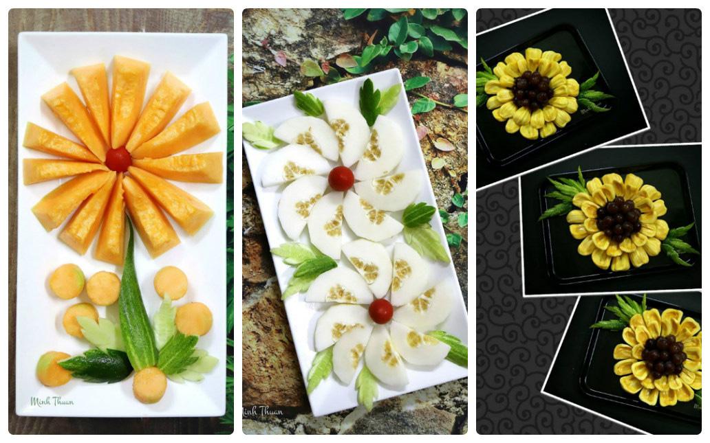"""Mê tít những đĩa hoa quả """"hoa lá cành"""" của nữ giảng viên Đại học - Ảnh 3."""