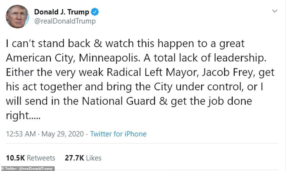 Bạo loạn ở thành phố Mỹ: Ông Trump nổi giận - Ảnh 3.