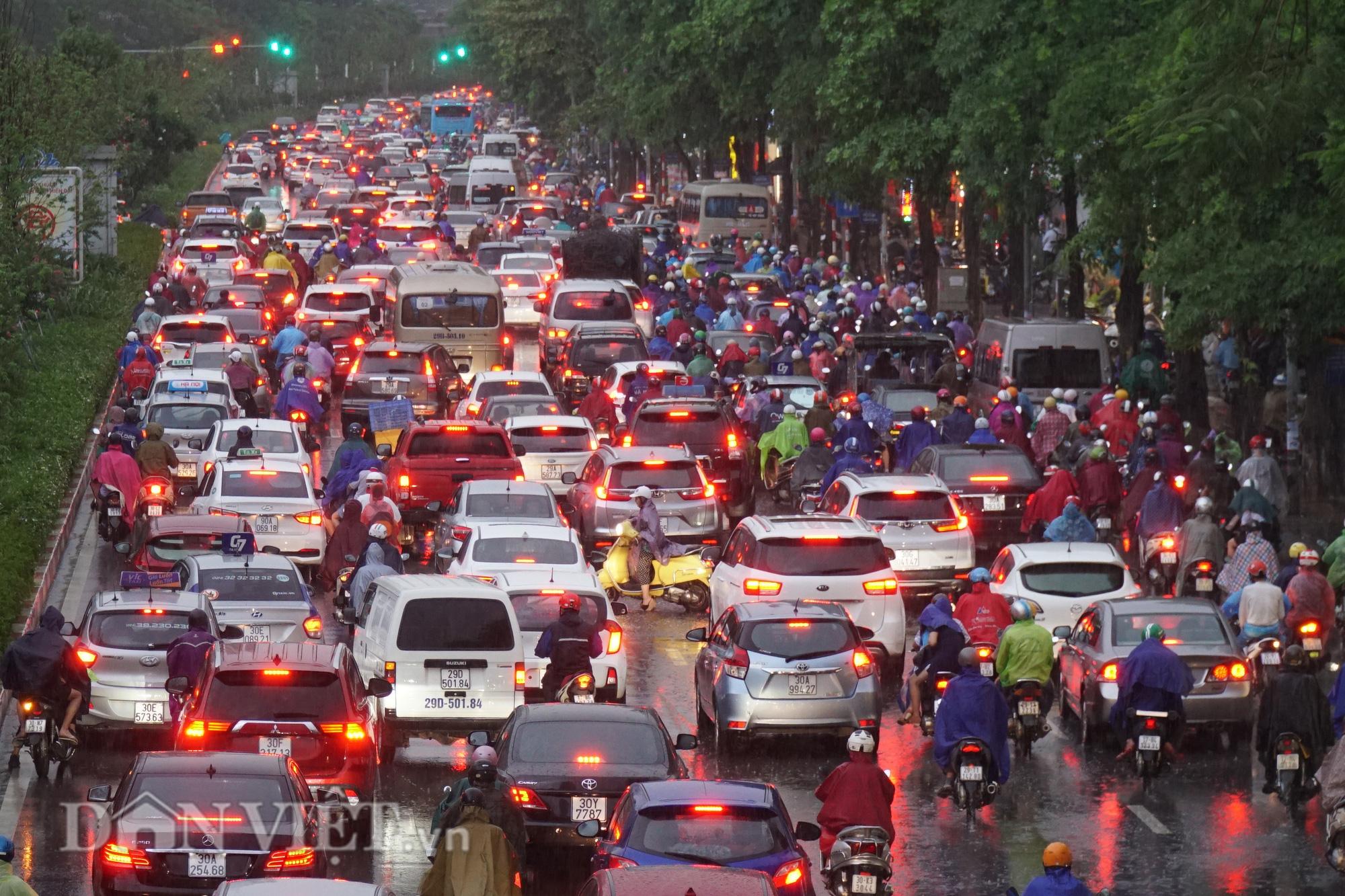 Hà Nội giảm 10 độ sau cơn mưa vàng - Ảnh 1.