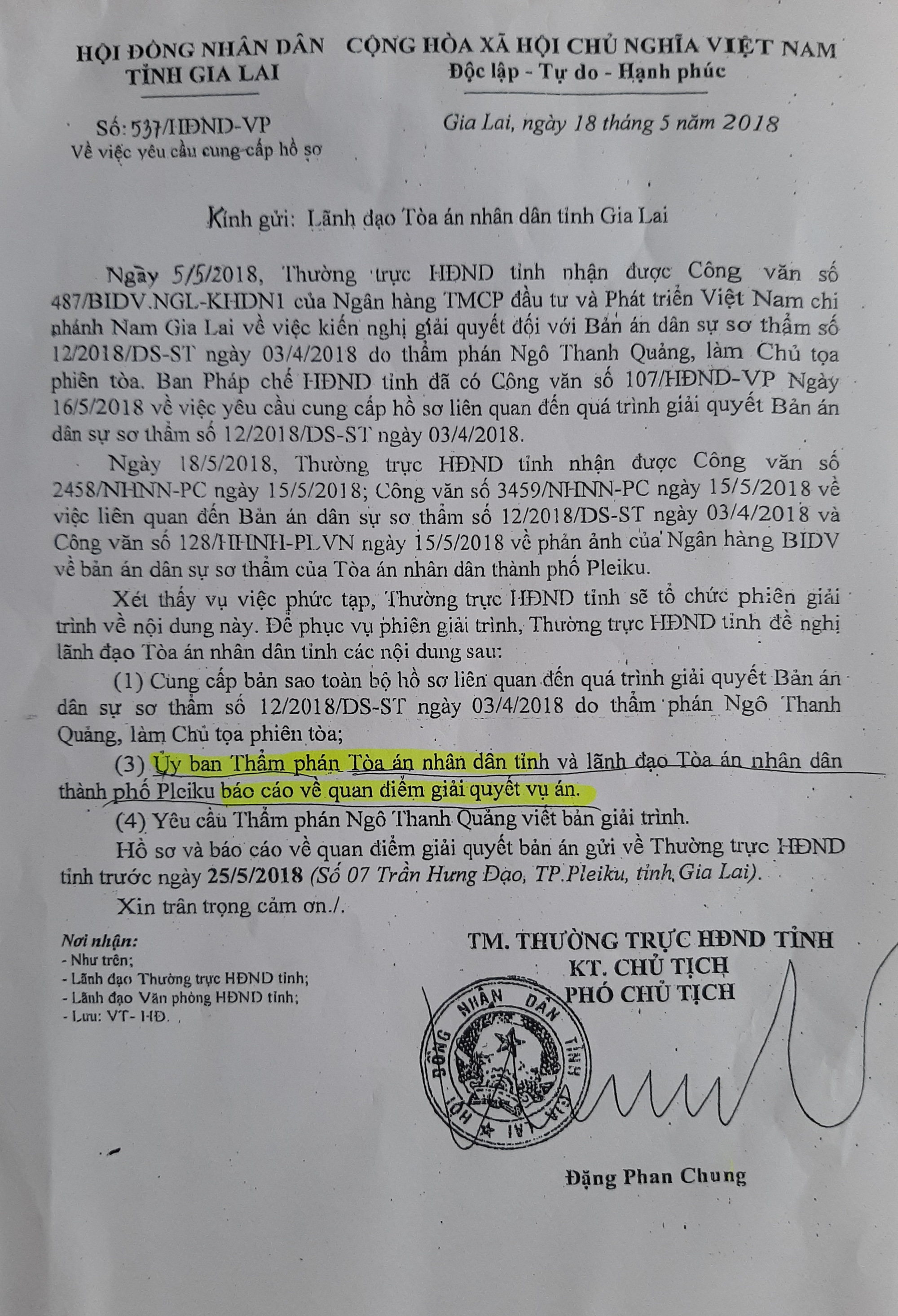 Xin ý kiến Ủy ban Thường vụ Quốc hội xử lý Phó Chủ tịch HĐND tỉnh Gia Lai - Ảnh 2.