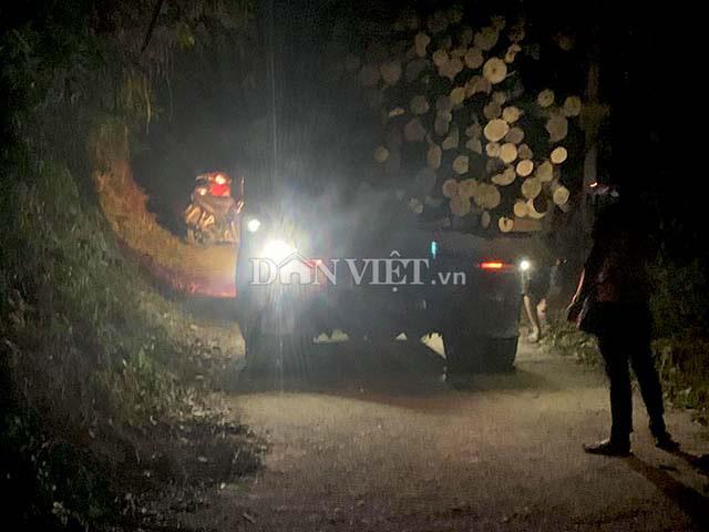 Bắc Kạn: Tạm giữ xe gỗ không rõ nguồn gốc trong đêm - Ảnh 1.
