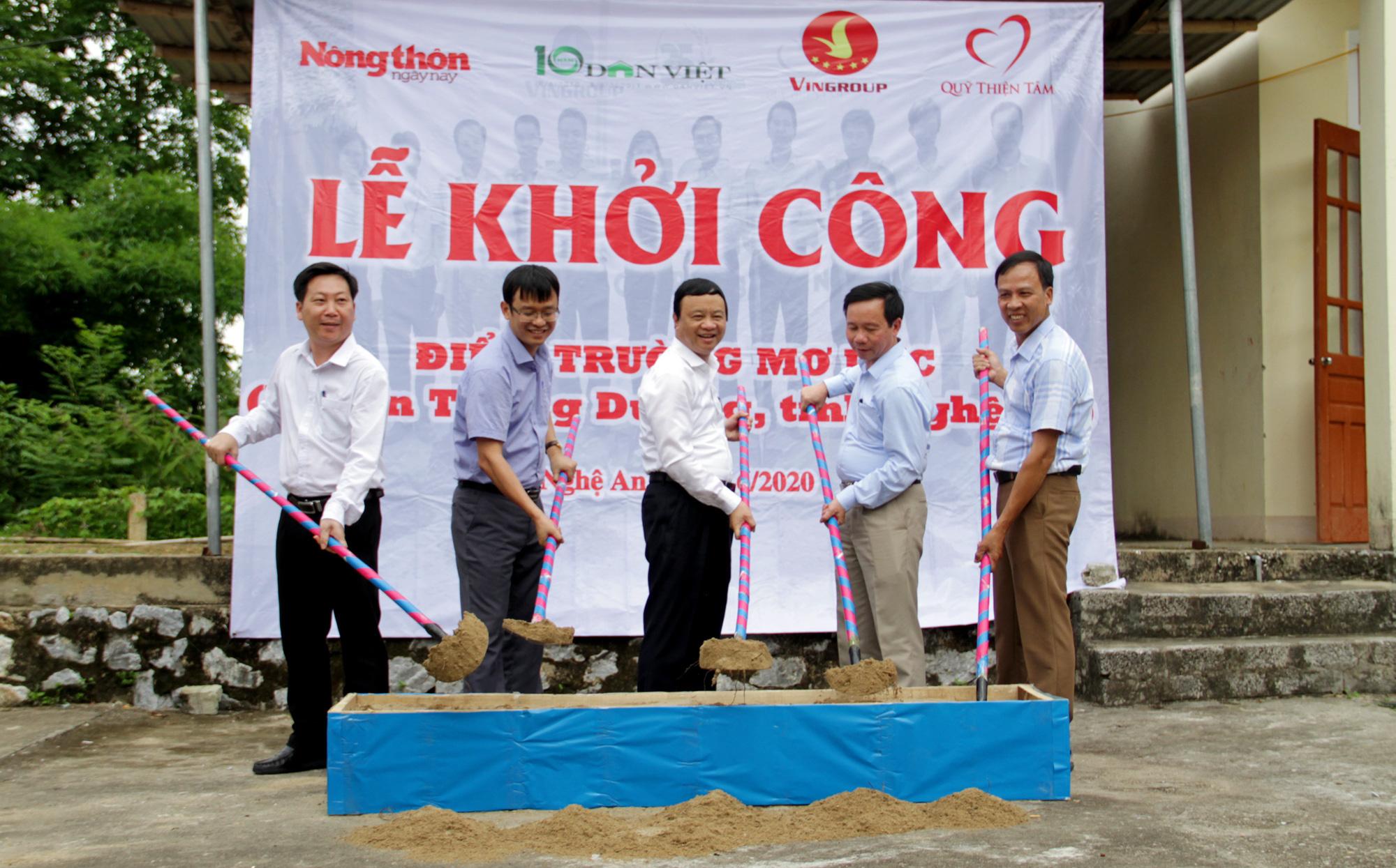 Báo NTNN/Báo Điện tử Dân Việt khởi công điểm trường mơ ước ở Nghệ An  - Ảnh 2.