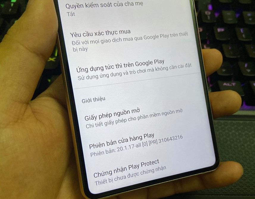 Bkav chưa phải là đối tác của Google nên Bphone B86 chưa được cấp chứng chỉ Play Protect!