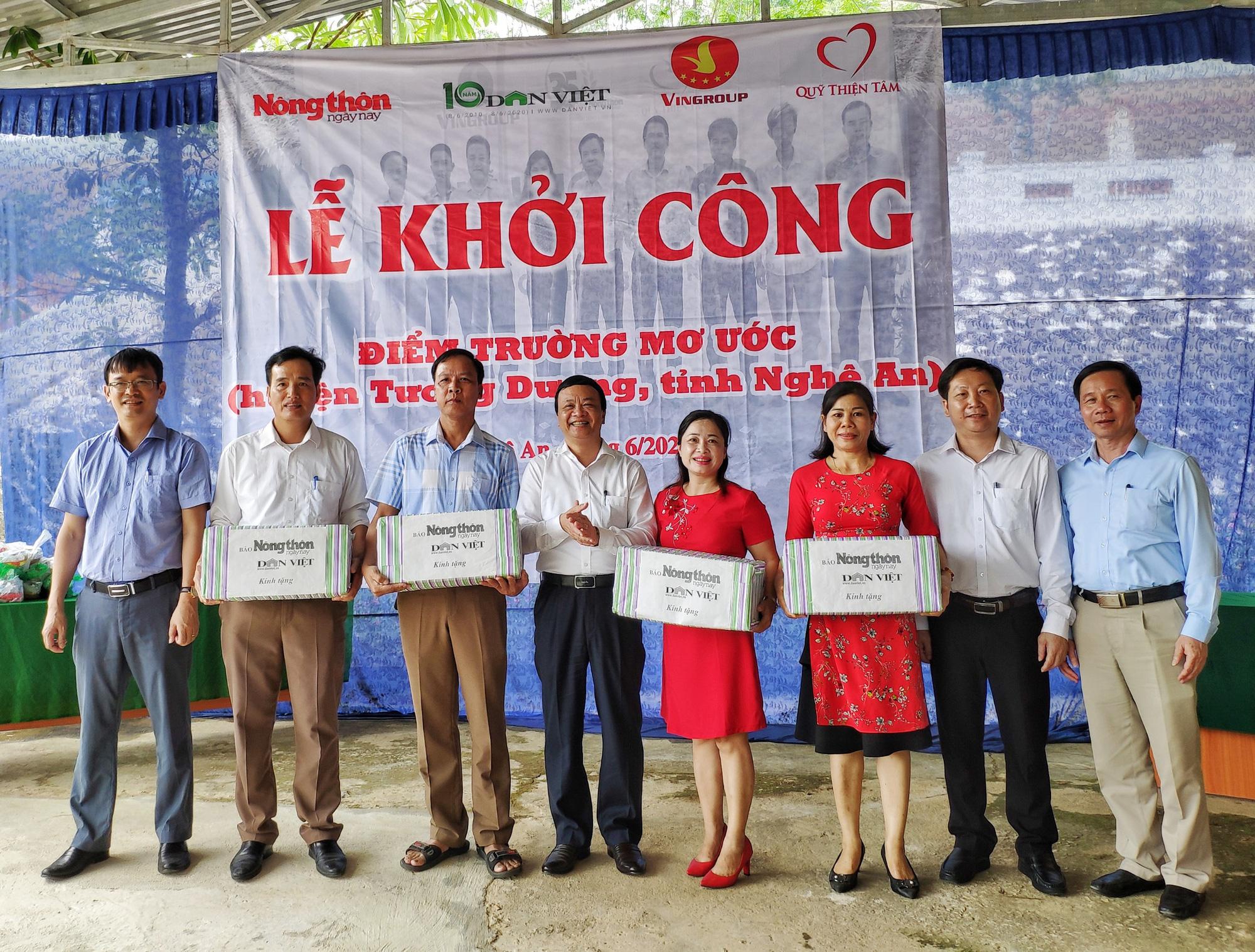 Báo NTNN/Báo Điện tử Dân Việt khởi công điểm trường mơ ước ở Nghệ An  - Ảnh 3.