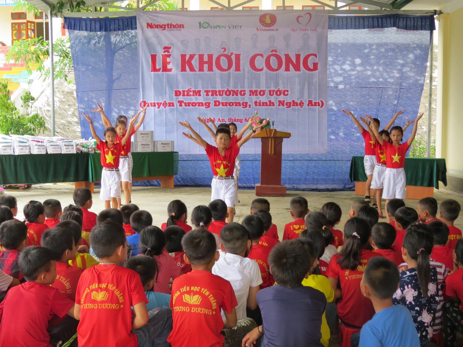 Báo NTNN/Báo Điện tử Dân Việt khởi công điểm trường mơ ước ở Nghệ An  - Ảnh 1.