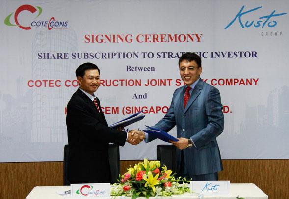 Kusto đầu tư vào Coteccons 25 triệu USD năm 2012 - Thời cơm lành canh ngọt