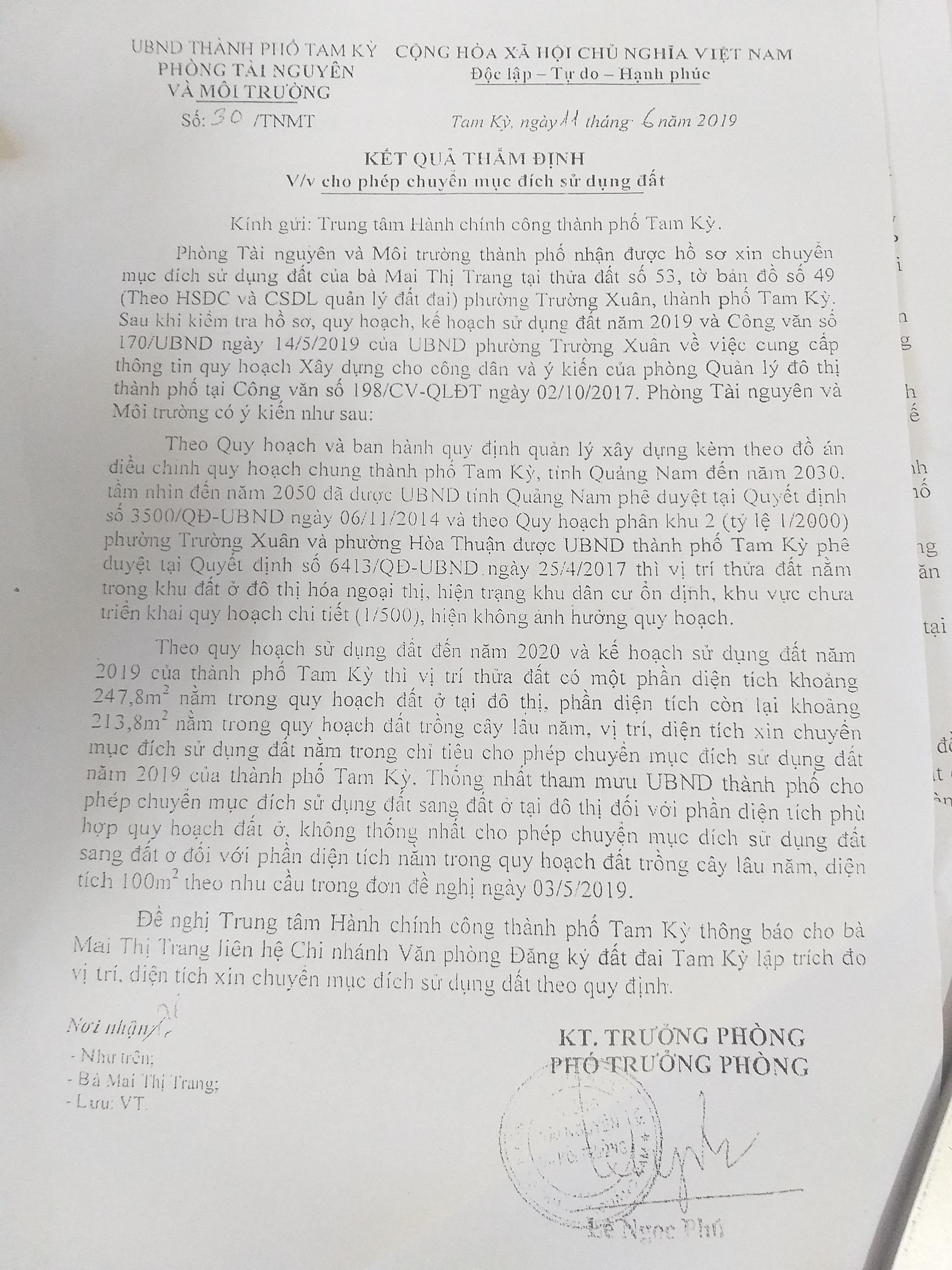Vụ Phó Chủ tịch TP Tam Kỳ thu hồi QĐ do chính mình ban hành: Thẩm định hồ sơ trên giấy - Ảnh 1.