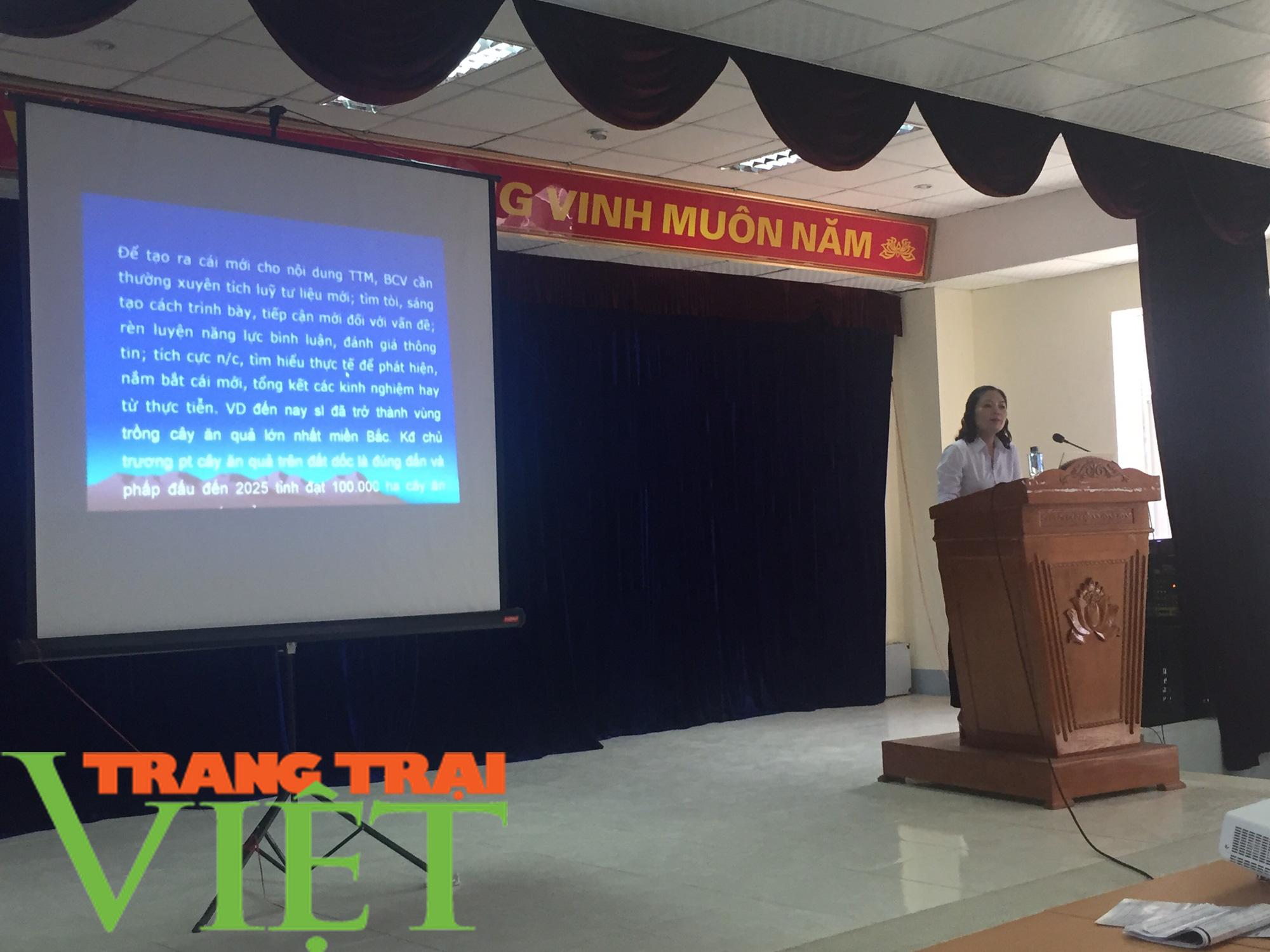 Hội Nông dân Sơn La: Tập huấn kỹ năng tuyên truyền miệng cho hội viên - Ảnh 3.