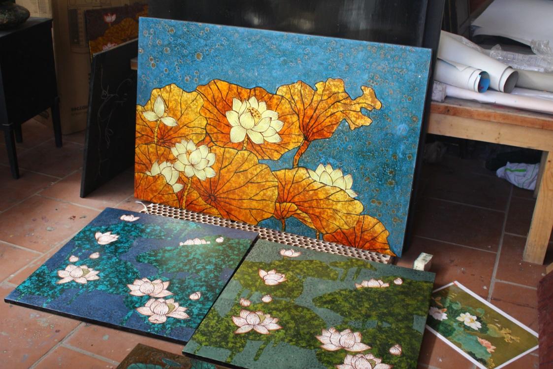 Làng nghề Hạ Thái: Nỗi lo sơn mài truyền thống biến thành sơn mài công nghiệp - Ảnh 3.