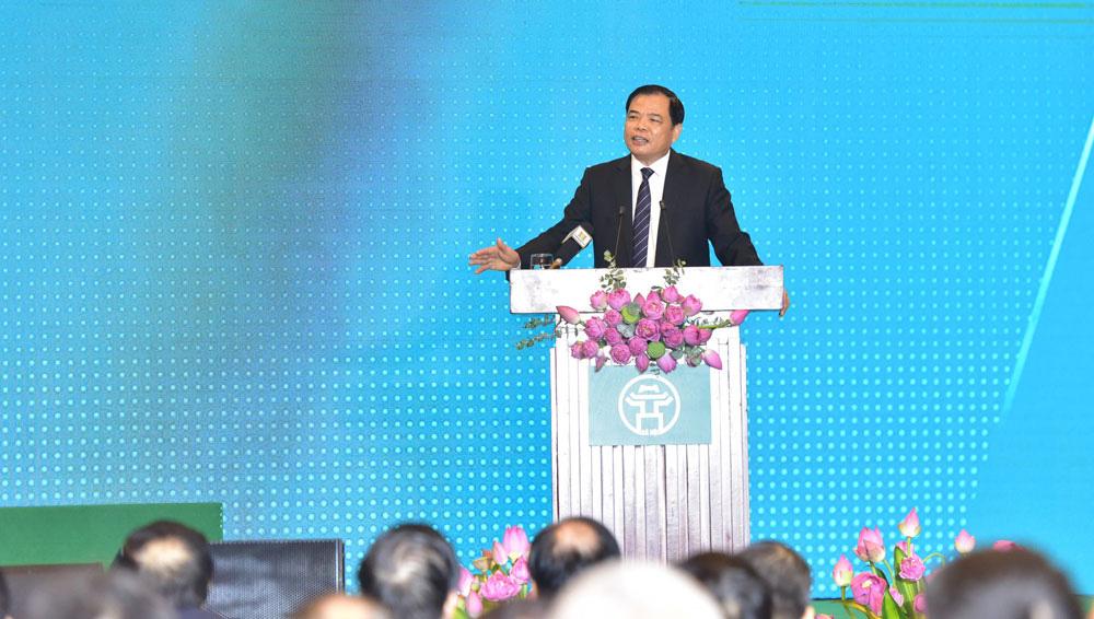 """Bộ trưởng Nguyễn Xuân Cường """"mời gọi"""" các doanh nghiệp đầu tư vào nông nghiệp Hà Nội như nào?  - Ảnh 1."""