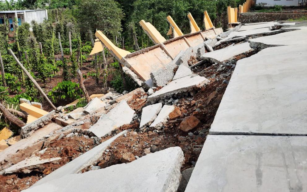 Vụ công trình tiền tỷ sập do mưa: Yêu cầu giữ hiện trường để xác định nguyên nhân