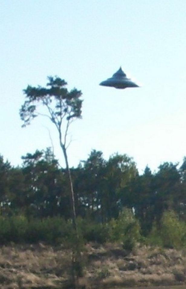Người đàn ông đang đạp xe thì bất thình lình thấy UFO lơ lửng trên cánh rừng   - Ảnh 2.
