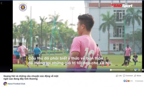 Hà Nội FC lấy lại hình ảnh cho Quang Hải giữa tâm bão - Ảnh 1.