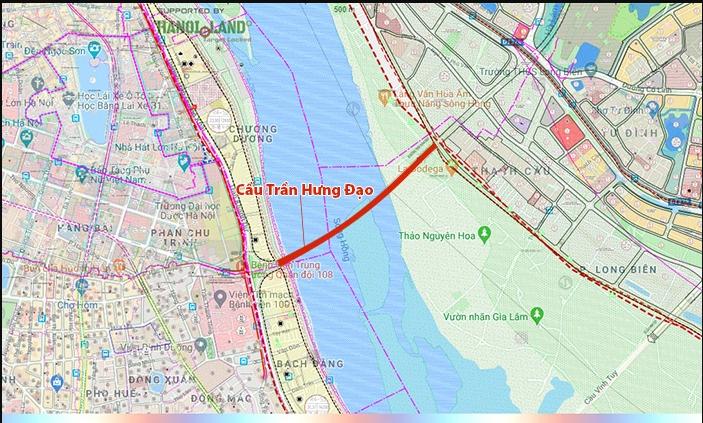 Hình ảnh về cầu Trần Hưng Đạo nối quận Hoàn Kiếm - Long Biên - Ảnh 1.