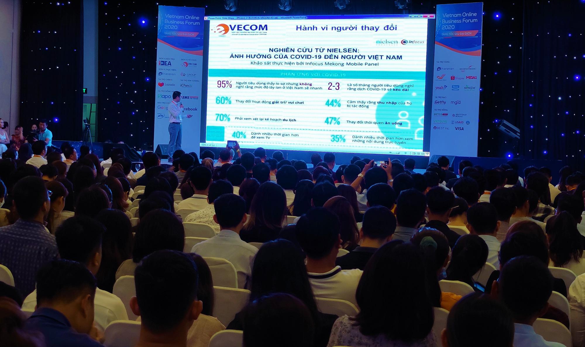 Trong 5 năm trở lại đây, nhiều cá nhân quan tâm đến hoạt động thương mại điện tử. Trong ảnh: Hội thảo Việt Nam - Thương mại điện tử tăng tốc sau Covid-19 vừa được tổ chức tại TP.HCM vào ngày 25/6/2020 thu hút hàng ngàn cá nhân tham dự. Ảnh: Trọng Hiền