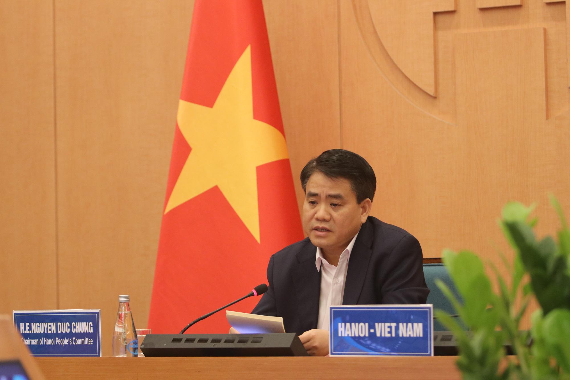 Chủ tịch Hà Nội chia sẻ kinh nghiệm chống dịch Covid-19 với Thị trưởng 40 thành phố - Ảnh 1.