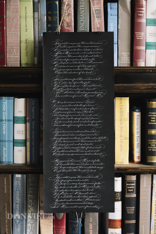 """Gặp """"phù thủy"""" của những chiếc bút và nét chữ thư pháp phương Tây - Ảnh 10."""