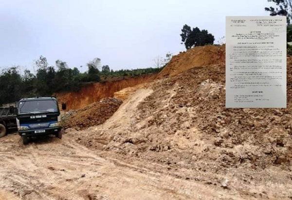 Phú Thọ: Xử phạt đối tượng khai thác khoáng sản trái phép hơn 400 triệu đồng - Ảnh 1.