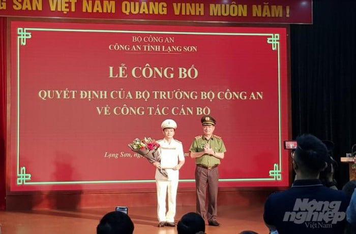 Phó giám đốc Công an Quảng Ninh làm Giám đốc Công an Lạng Sơn - Ảnh 1.