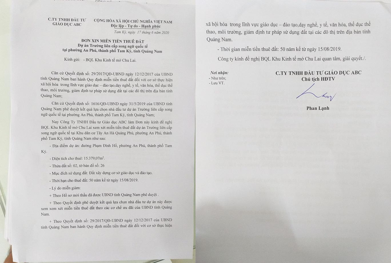 """""""Đất vàng"""" 15.000m2 ở Quảng Nam: Trưởng Ban quản lý KKT mở Chu Lai lên tiếng - Ảnh 4."""