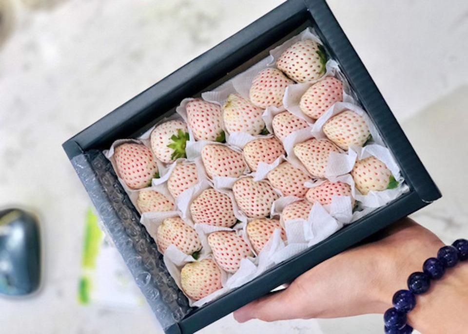 Sức hút kỳ lạ của dâu tây Bạch Tuyết giá gần 2 triệu đồng/kg - Ảnh 1.