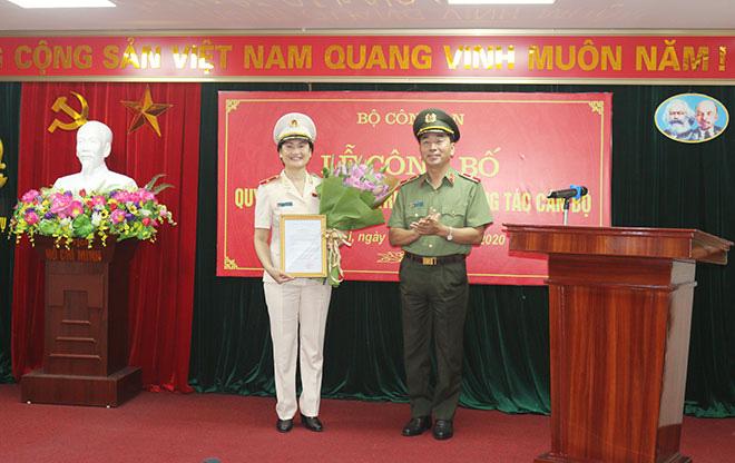 Nữ Thiếu tướng được bổ nhiệm Cục trưởng của Bộ Công an - Ảnh 1.