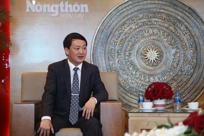 Phó Chủ tịch- Tổng Thư ký Ủy ban TƯ Mặt trận Tổ quốc Việt Nam thăm và chúc mừng Báo NTNN/Dân Việt - Ảnh 2.