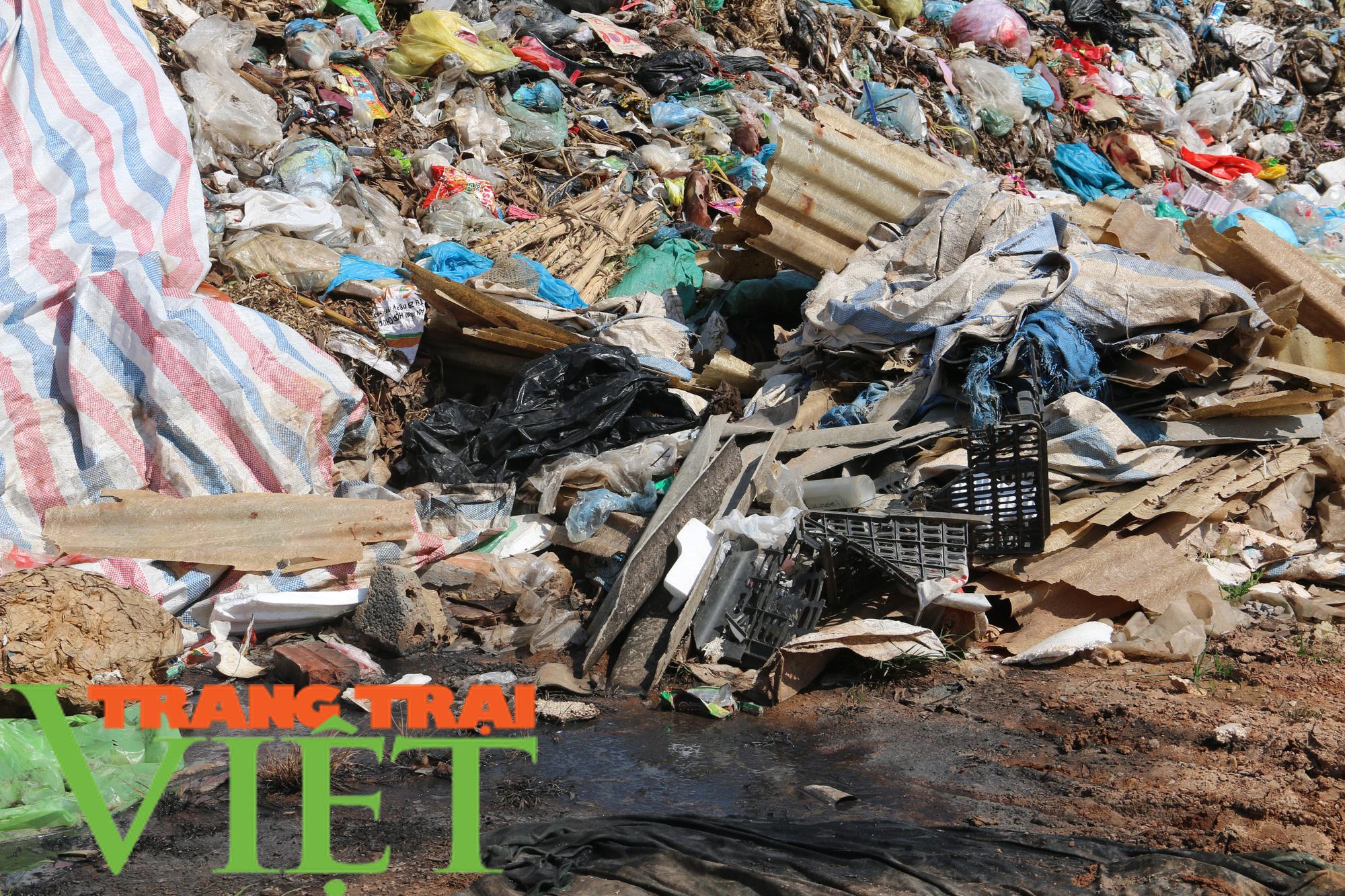 Hoà Bình: Người dân kêu trời vì rác chất đầy gần quảng trường - Ảnh 3.