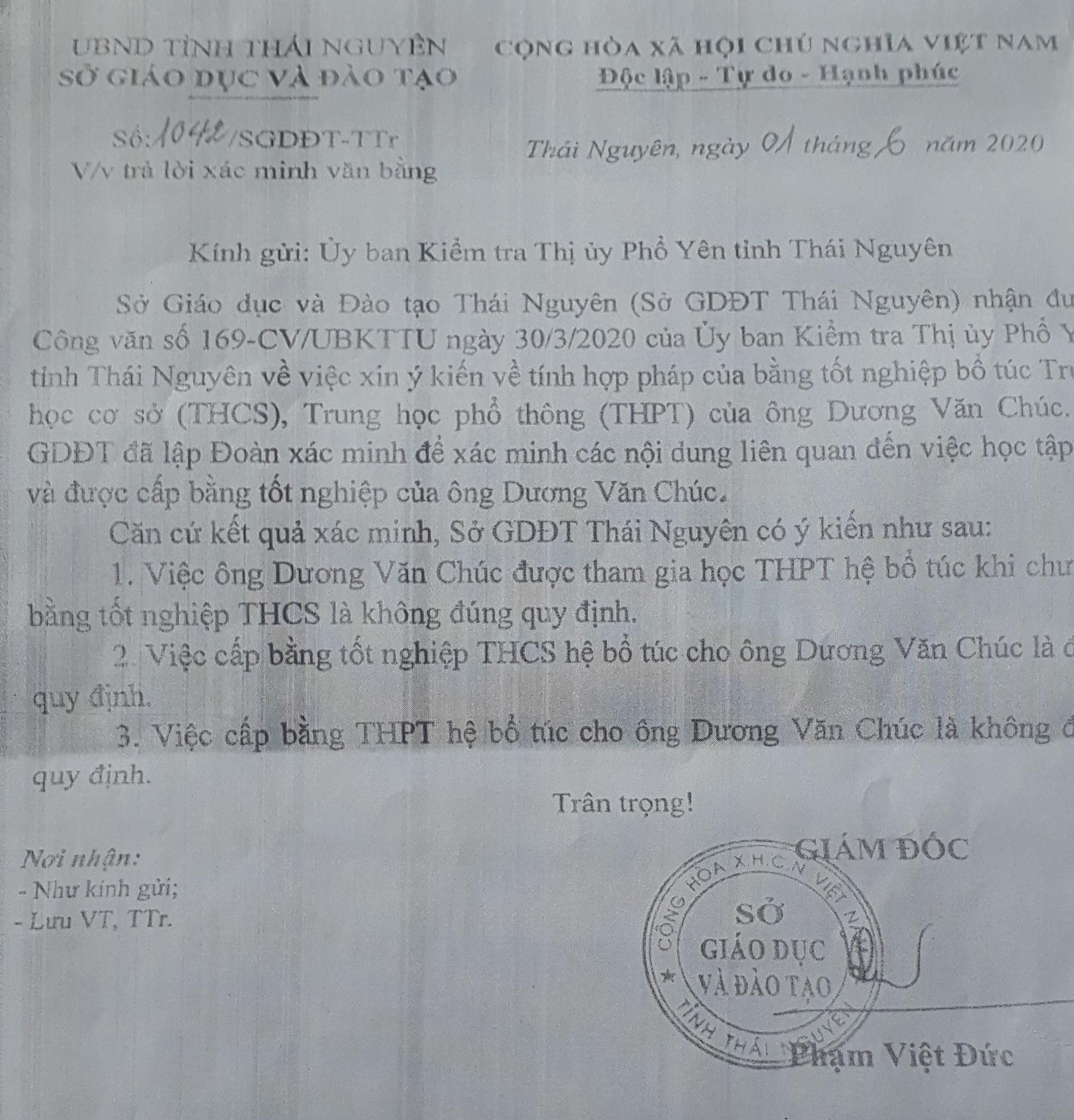 Thái Nguyên: Quyền Chủ tịch xã có nguy cơ bị rút mất bằng cấp 3 - Ảnh 4.