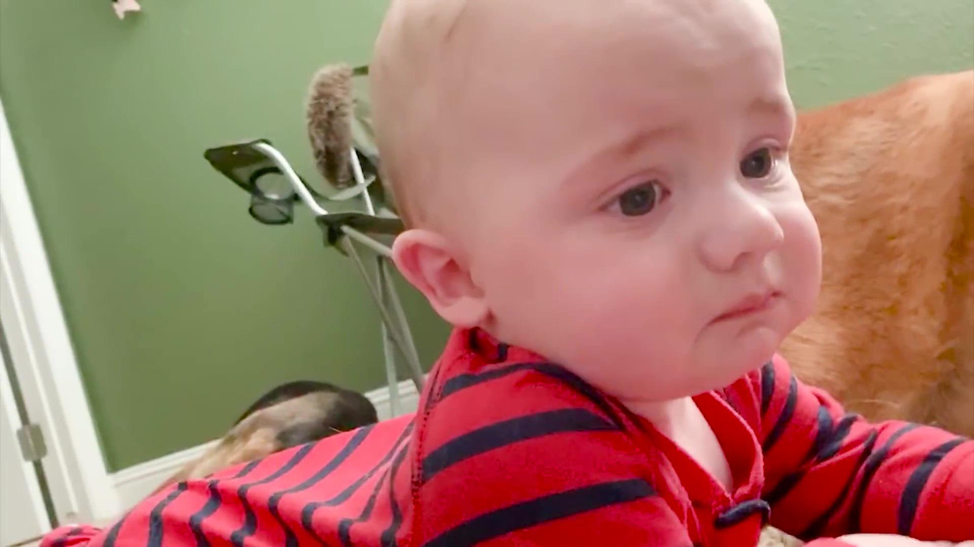 Video clip hài: Biểu cảm bất ngờ của trẻ em khi lần đầu nhìn thấy đồ chơi - Ảnh 5.