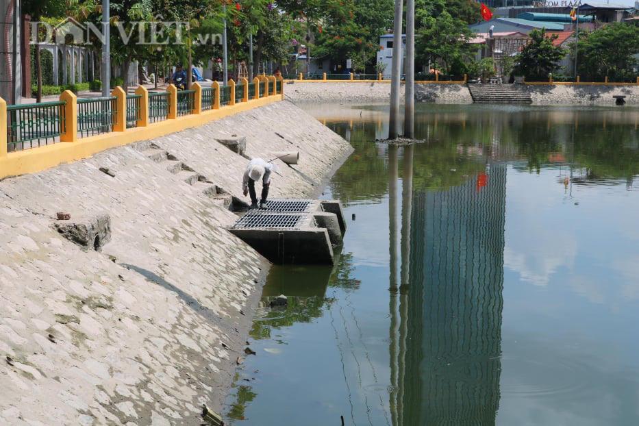 Hải Phòng: Dự án cải tạo hồ điều hòa phường Trại Chuối chưa làm xong đã xuống cấp - Ảnh 3.