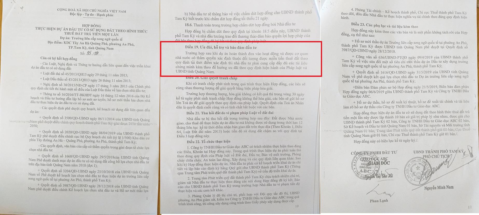 """""""Đất vàng"""" 15.000m2 ở Quảng Nam: Hợp đồng thuê đất không ghi miễn theo Quyết định 29 - Ảnh 1."""