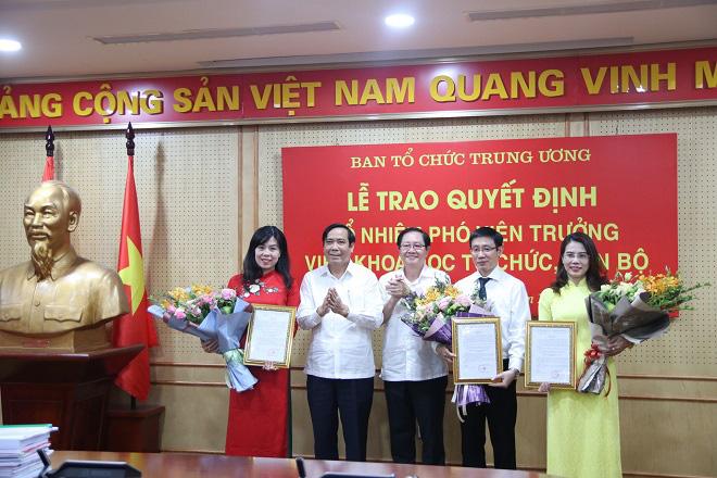 Ban Tổ chức Trung ương trao quyết định bổ nhiệm Phó Viện trưởng cho 3 người điểm thi cao nhất  - Ảnh 1.