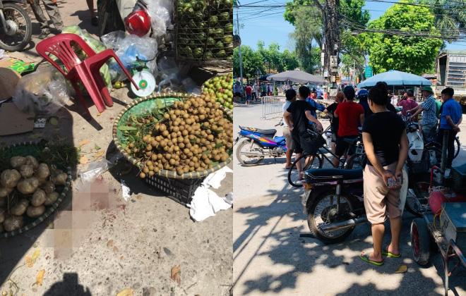 Mâu thuẫn do giành khách, một phụ nữ bán hoa quả bị đâm tử vong - Ảnh 2.